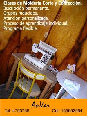 AnVar - Te enseño a coser: CLASES DE MOLDERIA CORTE Y CONFECCION