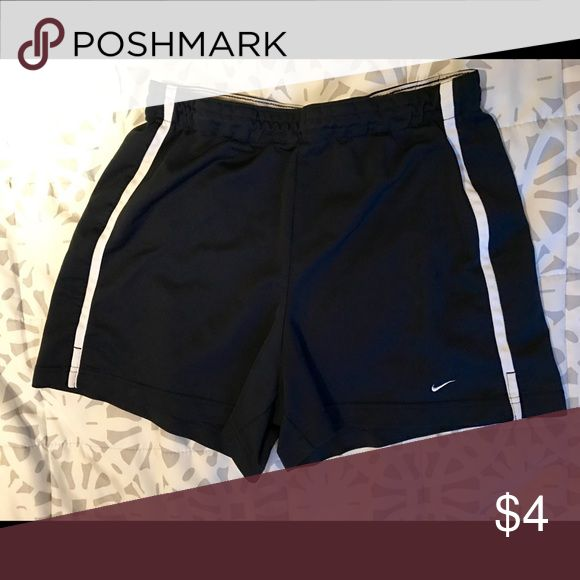 Black Nike Shorts Used black Nike shorts in size M. Has elastic band at the waist. Nike Shorts