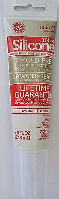 GE CLEAR SILICONE II  Kitchen Bath Sink Tile Sealant 2.8 oz Tube