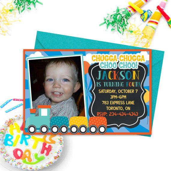 Train Party Invitations Choo Choo Party Kids by PrintYourInvite #traininvitations #partyinvitations #boysbirthdayinvites #boysbirthdayparty #party #birthday #partyinvitations #invitations #kidspartyinvites