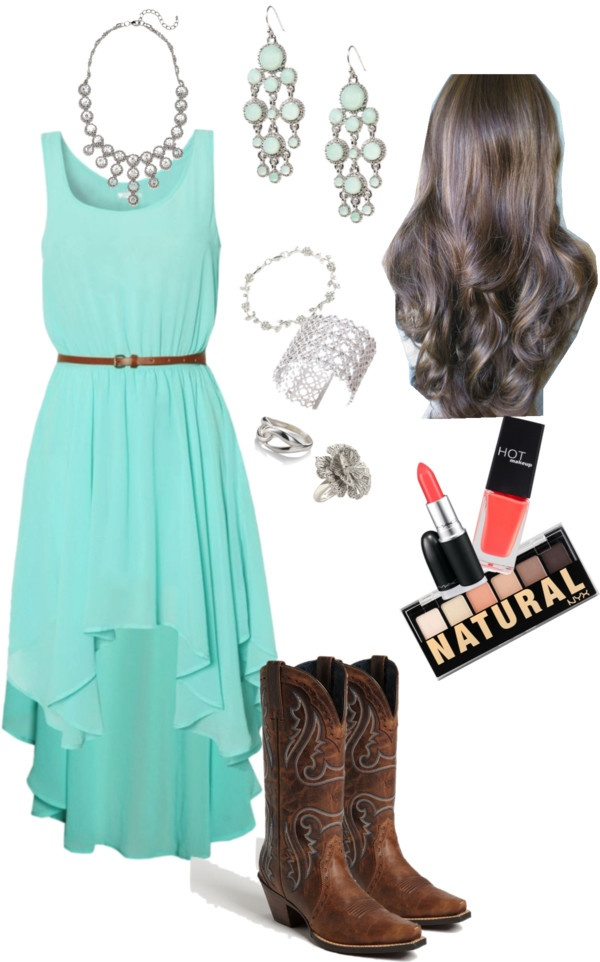 """Cowgirl dressed up"" by mattiestockman on Polyvore"