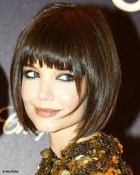 "the ""new"" doKatie Holmes, Bobs Haircuts, Bobs Hairstyles, Hair Cut, Shorts Bobs, Bangs, Shorts Hair Style, Katy Holmes, Shorts Hairstyles"