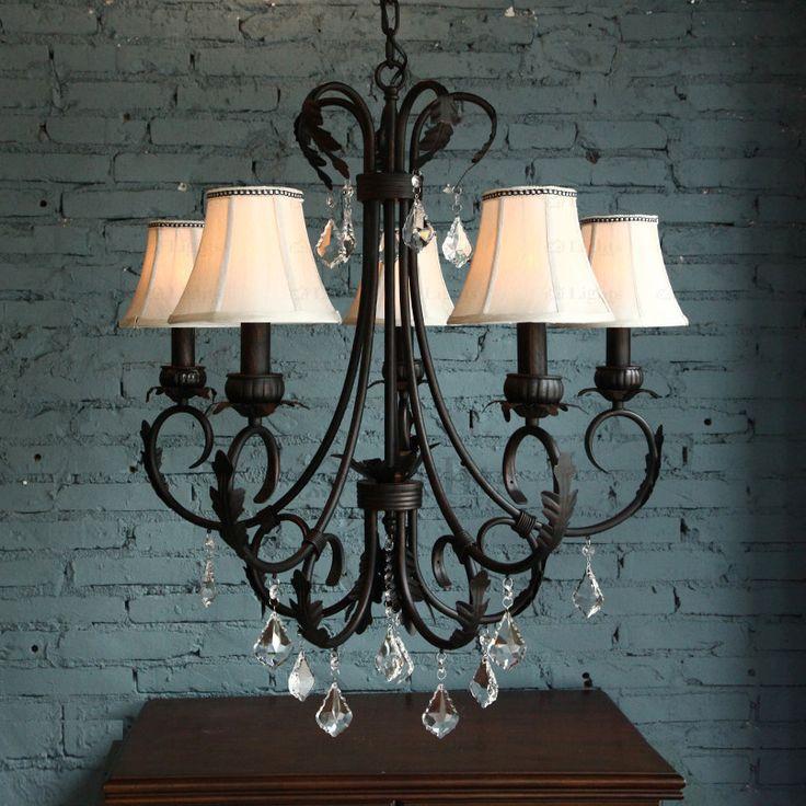 Mejores 46 imgenes de wrought iron chandeliers en pinterest vintage wrought iron chandelier aloadofball Images