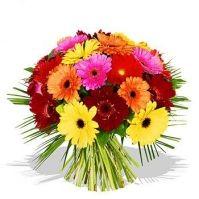 Bouquet di Gerbere colorate, un bouquet allegro e colorato per una persona vivace