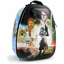 Star Wars the Clone Wars Tin Backpack Style Bag School Lunchbox Lunch Box - Blue