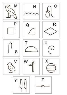 BRICOLAGE DECO - Ecrire son prénom en hiéroglyphes