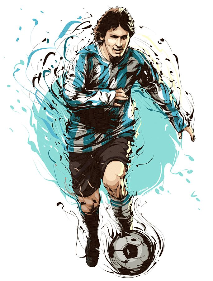 Messi by Cris Vector, soccer, futbol, football, argentina