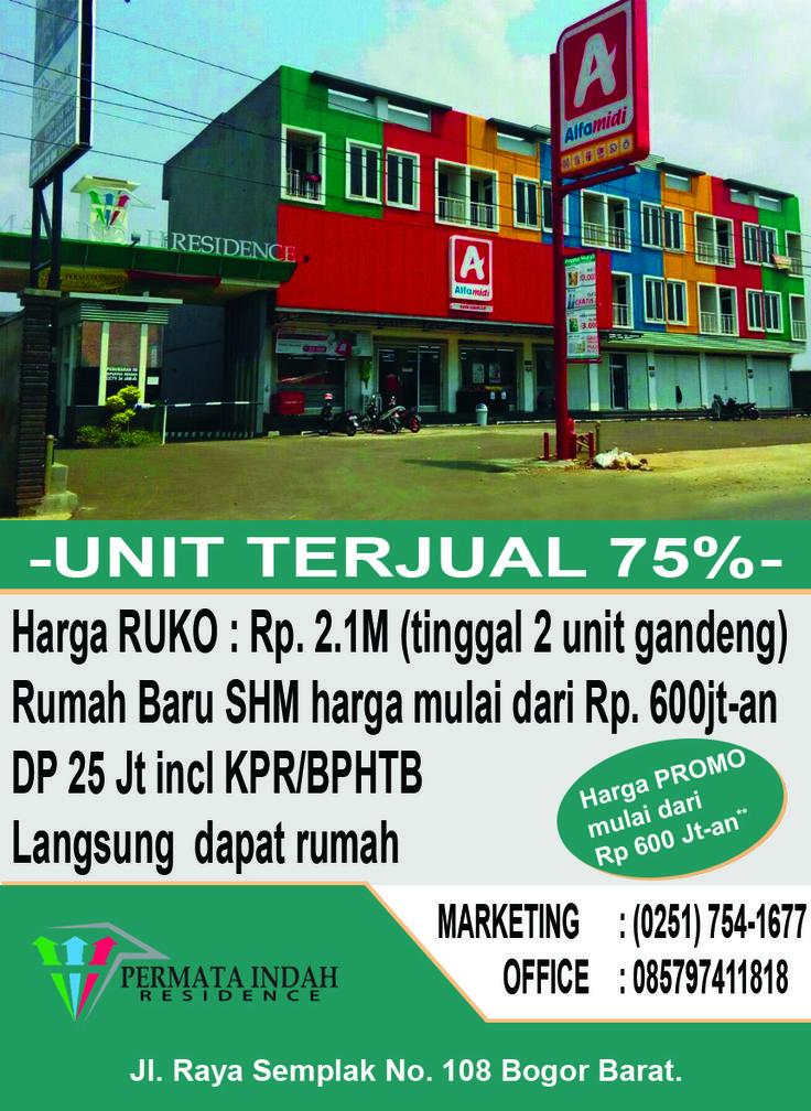 Desain Brosur / Flyer for Perumahan Permata Indah Residence Bogor