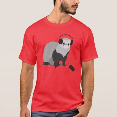 Music Lover Ferret Mens T-Shirt - tap to personalize and get yours