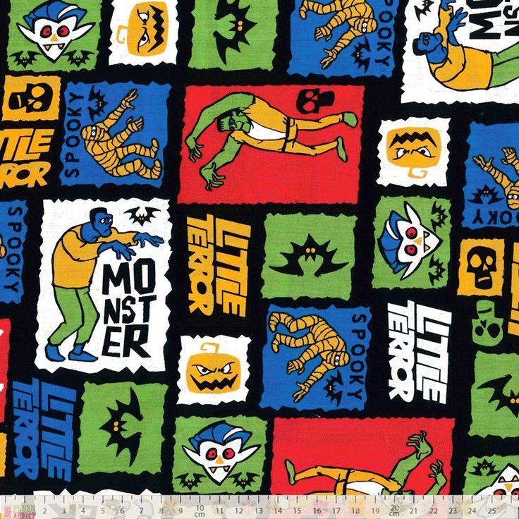 Craft Cotton - Trick Or Treat Blocks - cotton fabric