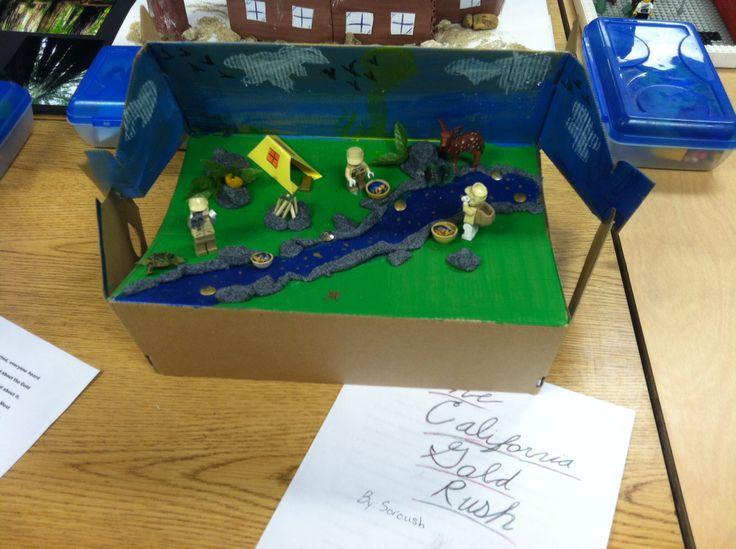 4th grade California landmark project - the Gold Rush