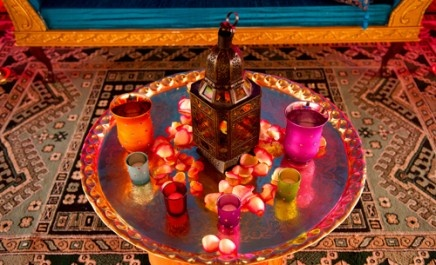 A lantern and drinks after iftar in Ramadan....maybe paan?