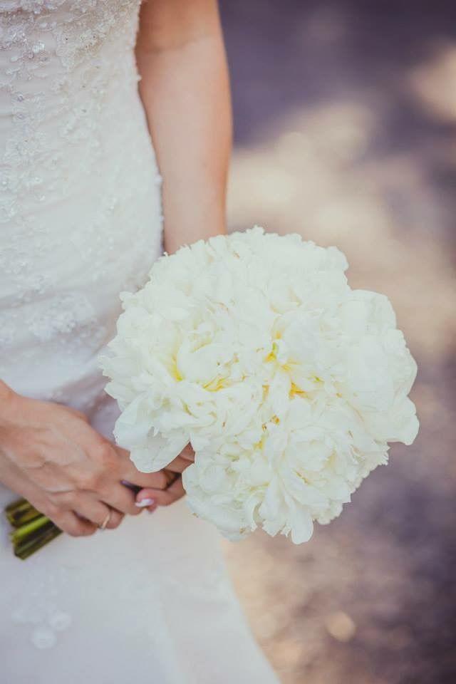 White Peonies // Wedding Bouquet #Wedding #Forest #Greenery #Bouquet #Peonies #White #Photography #Australia