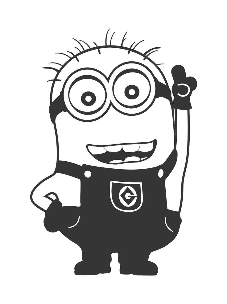 minion clipart black and white - Google Search