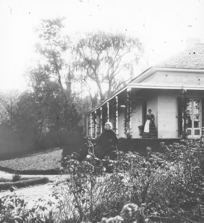 Stone house with french windows, garden - possibly Kurrajong (by Prof. John Smith)
