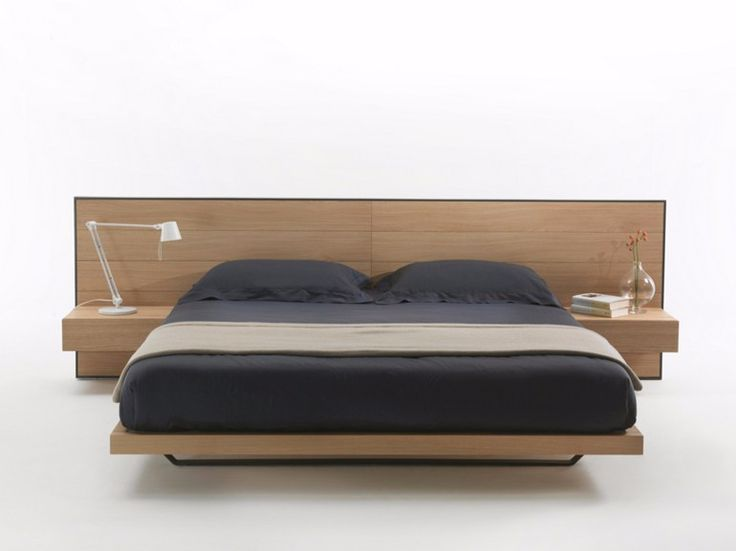 Lit double en bois RIALTO BED by Riva 1920 design Giuliano Cappelletti
