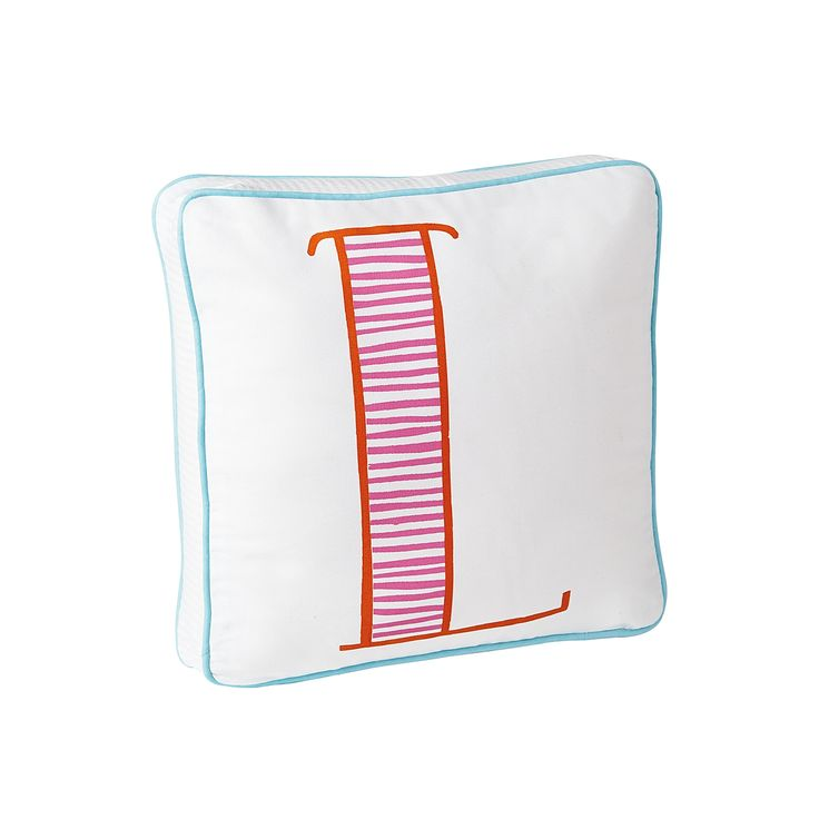 Schoolhouse Letter Pillow – Juice/Orange | Serena & Lily