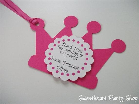 princess favor tags