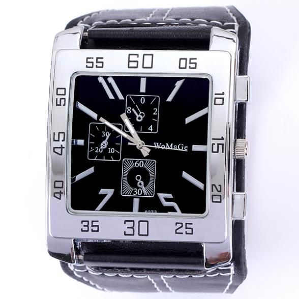 Cheap watch charm, Buy Quality dropship jeans directly from China dropshipping tshirts Suppliers: Promotion popular square big dial sport men leather watch brand name fitness military hours quartz analog dropship who