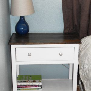 Farmhouse Pine Bedside Table