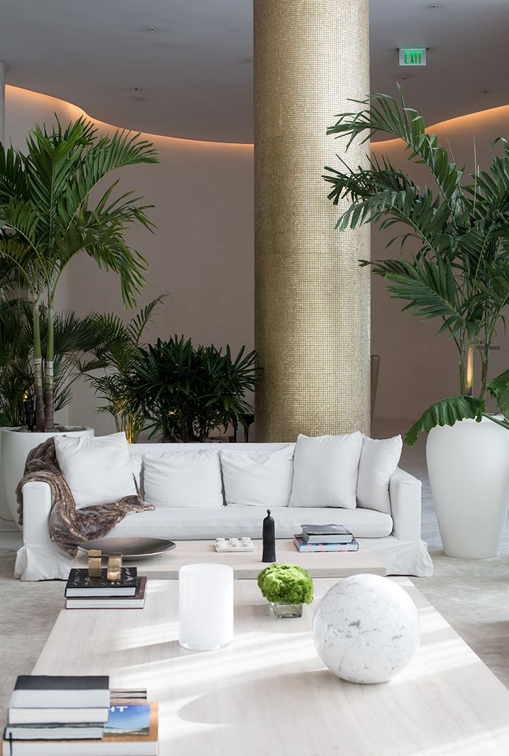 LUXE HOTELS & RESORTS The gorgeous Lobby at The Miami Beach EDITION repined BellaDonna