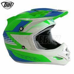 2014 Thh Tx23 Velocity Motocross Helmet - Green Blue - 2014 Thh Motocross Helmets - 2013 Motocross Gear - by Thh Helmets