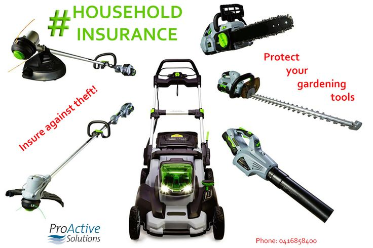 Household Insurance - Protect Your Gardening Equipment