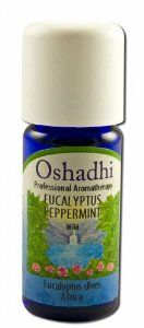Oshadhi Eucalyptus Peppermint 10 Ml Essential Oil Singles by Oshadhi. $15.00. Country of origin: Africa. Aroma: Camphoraceous, fresh, spicy-minty.. Extraction: Steam distilled. Part of plant: Leaves. Cultivation: Wild. Oshadhi Professional Aromatherapy EUCALYPTUS PEPPERMINT Wild Eucalyptus Dives Africa 10 ml Product of Germany