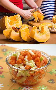 Витаминные салаты из тыквы .