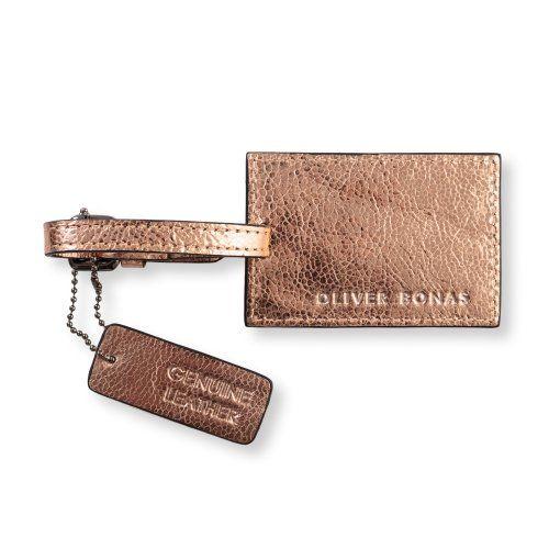 Metallic Leather Luggage Tag