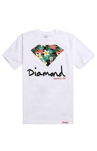 Diamond Supply Co Maui Script Logo T-Shirt