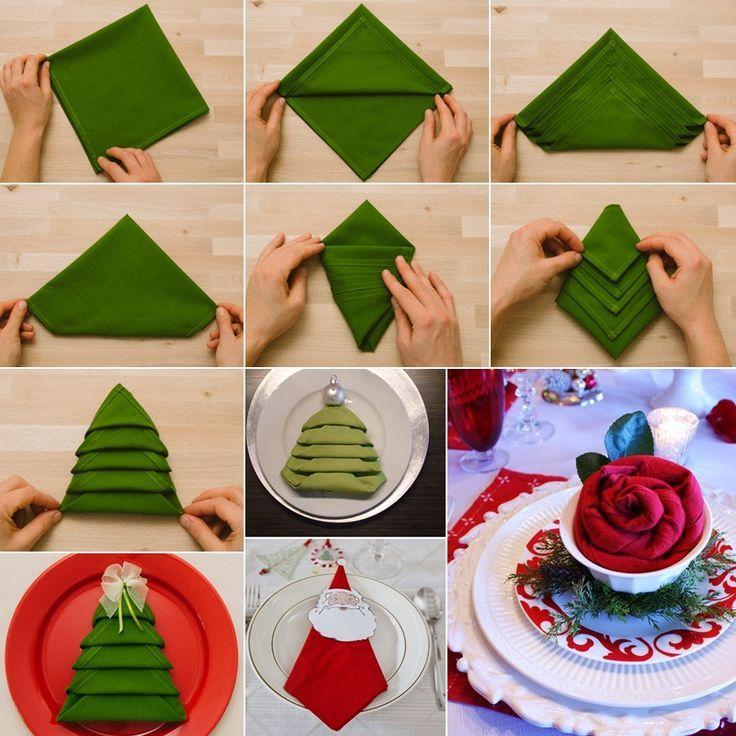 Idee arredo Natalizio fai da te: accessori per la tavola per Natale, segnaposti, porta tovaglioli, porta posate e addobbi natalizi facili da realizzare!