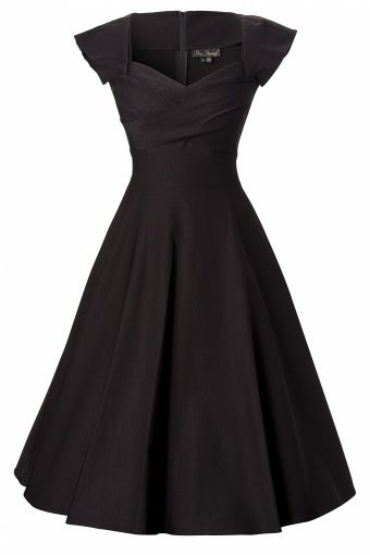 50s Mad Men swing dress black