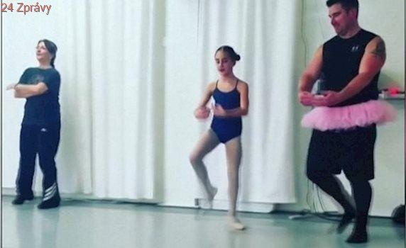 """VIDEO: Tátové, co se baletu a """"holčičích"""" her nebojí. Dcery je za to milují"""