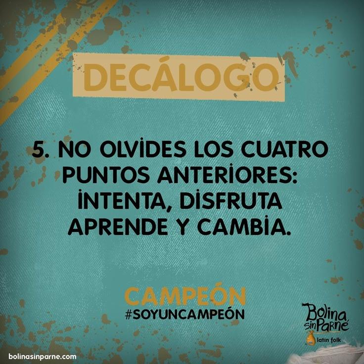 ¿Cómo ser un Campeón? http://bolinasinparne.blogspot.com/2013/06/comoseruncampeon.html