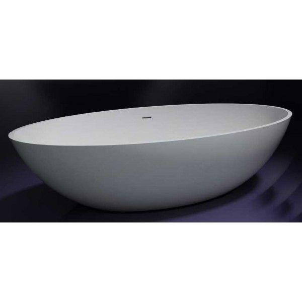 Ben Solid vrijstaand bad 180(L)x85(B)x52(H)cm mat wit