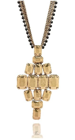 Christa gold necklace available at www.stellanemiro.com