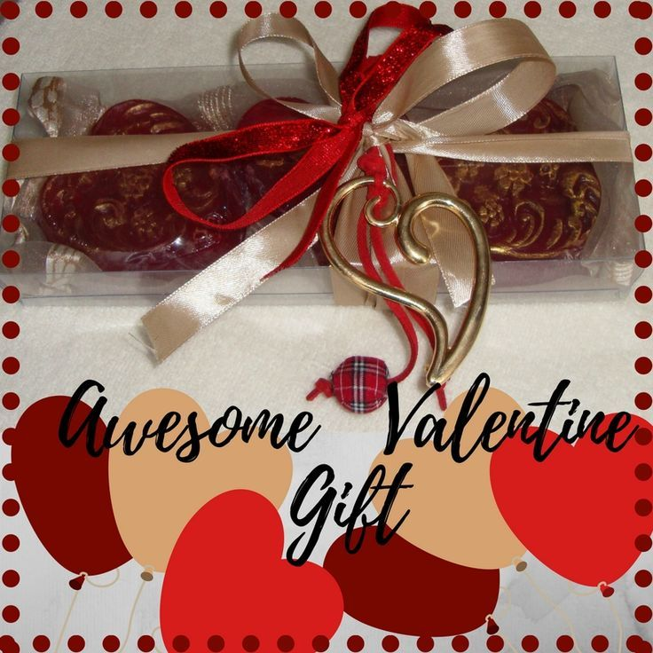 Impress the woman in your life with this Creative Awesome Handmade Gift Idea for Her.  A Cream Beige Sand Honey Valentine Gift Set for Women with three red Colour Heart Scented Luxury Soaps in pomegranate scent and a lovely Gold & Red Handmade Heart Jewelry Necklace in the packaging. A very nice and a budget-friendly Valentine's Day gift idea, proving that with a little creativity, being romantic can actually be pretty inexpensive.