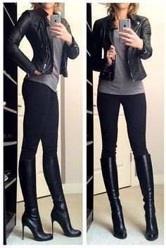 I love everything about this. Its simple, casual, edgy, and dressed up all at once. Clothing, Shoes