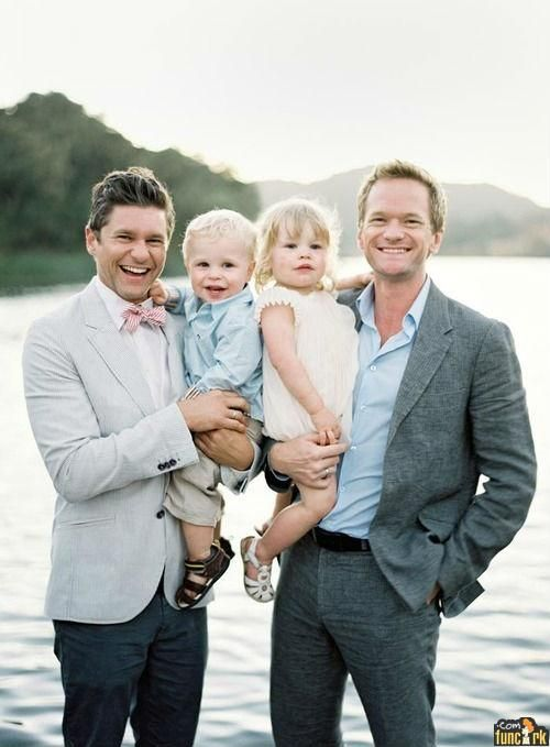 Neil Patrick Harris Family  I'm so happy my pre teen crush (Doogie Howser) is happy. :) I will always love you NPH! xoxo Krissy