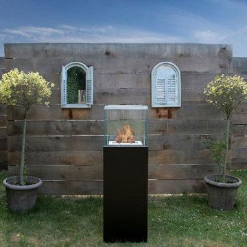 "Column Fireplace Black 16""  by Vincent Anzia"