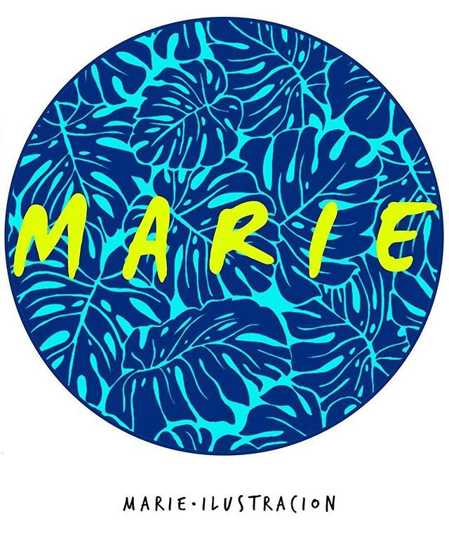 Marie Ilustracion | Hello Everyone  #illustration #marieillustration #colorfull #lovely #blue #pattern