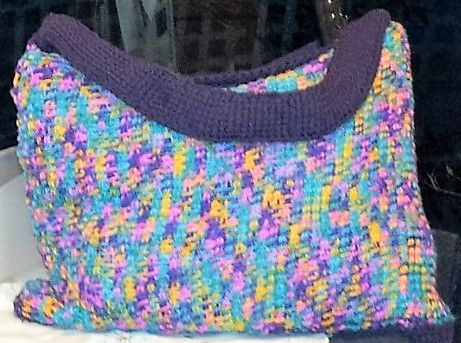 Tunisian crochet tote bag - so fast you can do it in less than a week