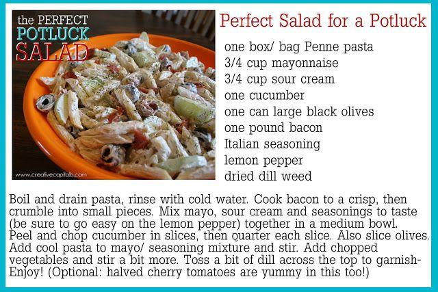 Capital B: The Perfect Potluck Pasta Salad