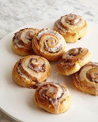 Glazed Cinnamon Rolls with Pecan Swirls. Via F&W. (www.foodandwine.com).