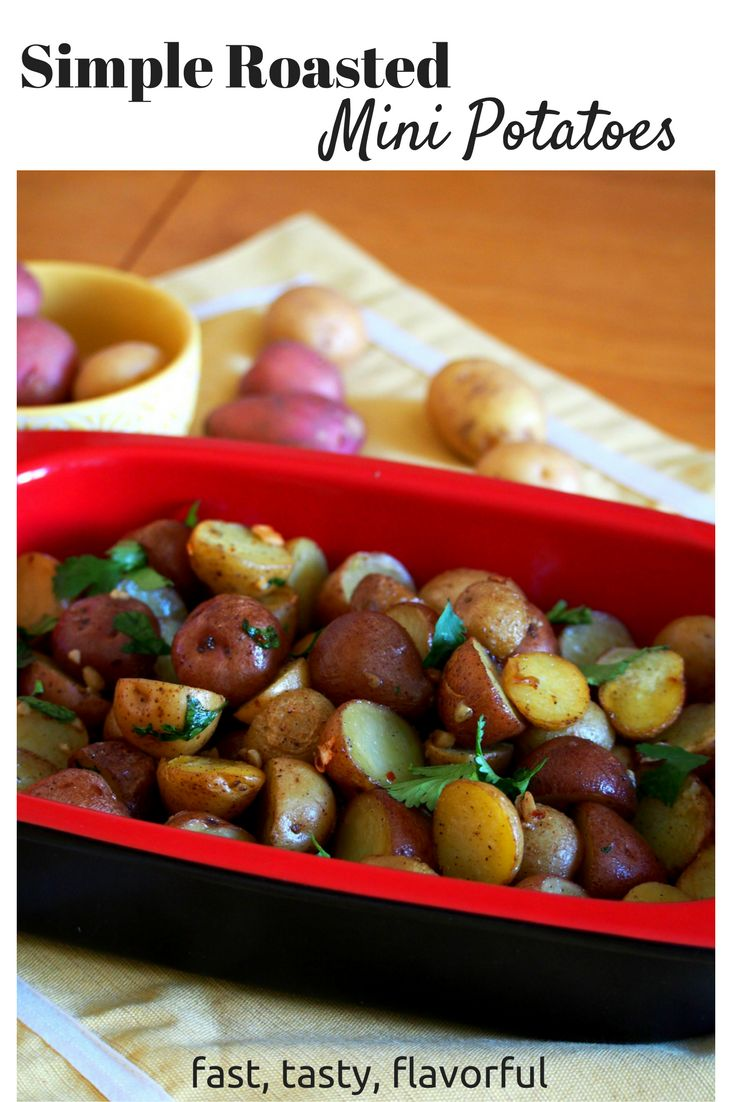 An easy to cook roasted mini potatoes that is very tasty and flavorful.