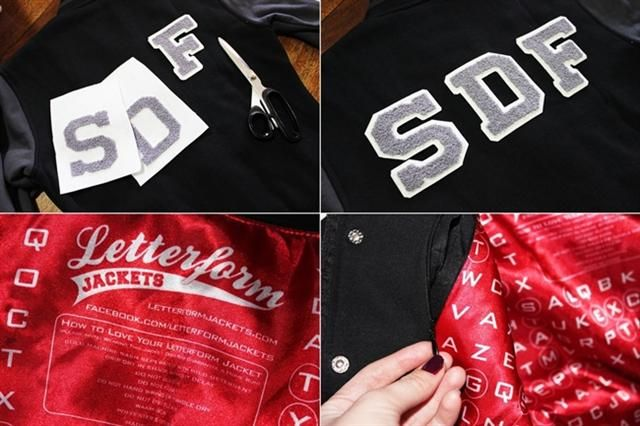 Sewing on Chenille Letters to Letterform Baseball Jacket