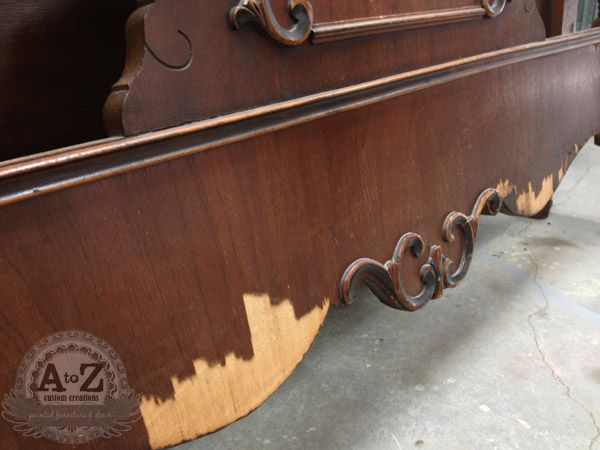 AWESOME Site on How to Repair Damaged Veneer! Makes me want go thrift something damaged!