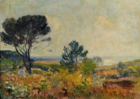 Robert Antoine Pinchon - Paysage à Quiberville (1922)
