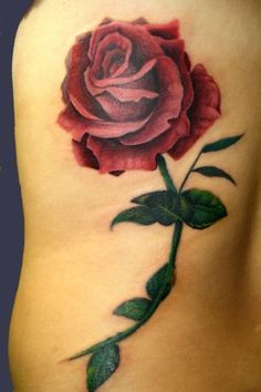 rose with stem tattoo - Google Search